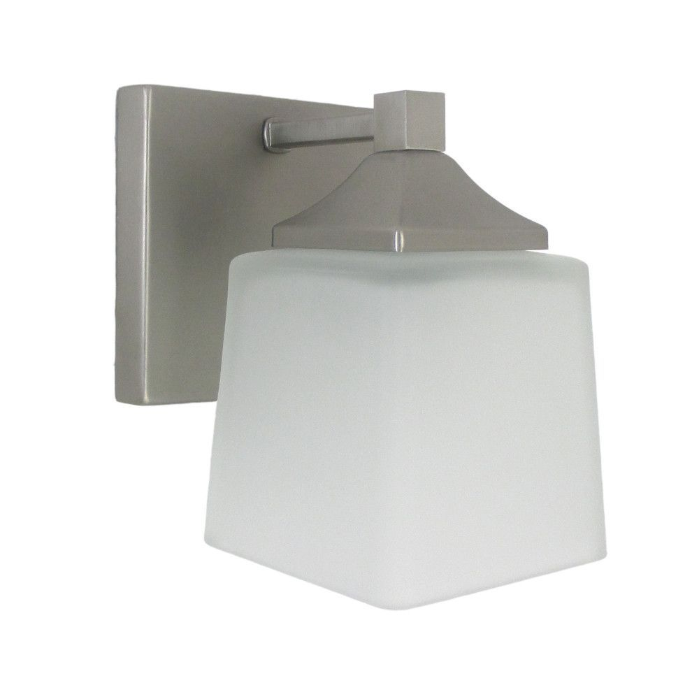 epiphany lighting 103290 bn one light contemporary wall sconce in