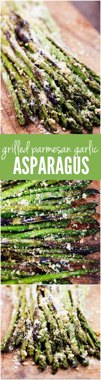 Grilled Parmesan Garlic Asparagus #grillingrecipes