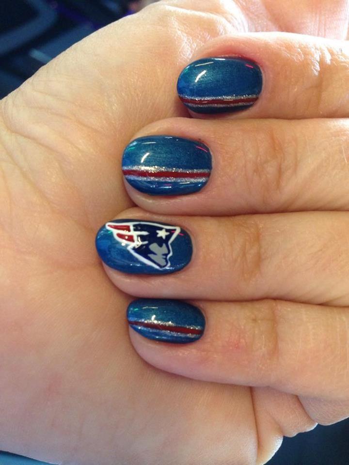 How Cute Patriots Patsnails Patsnation Nails Nail Art Beauty Nails