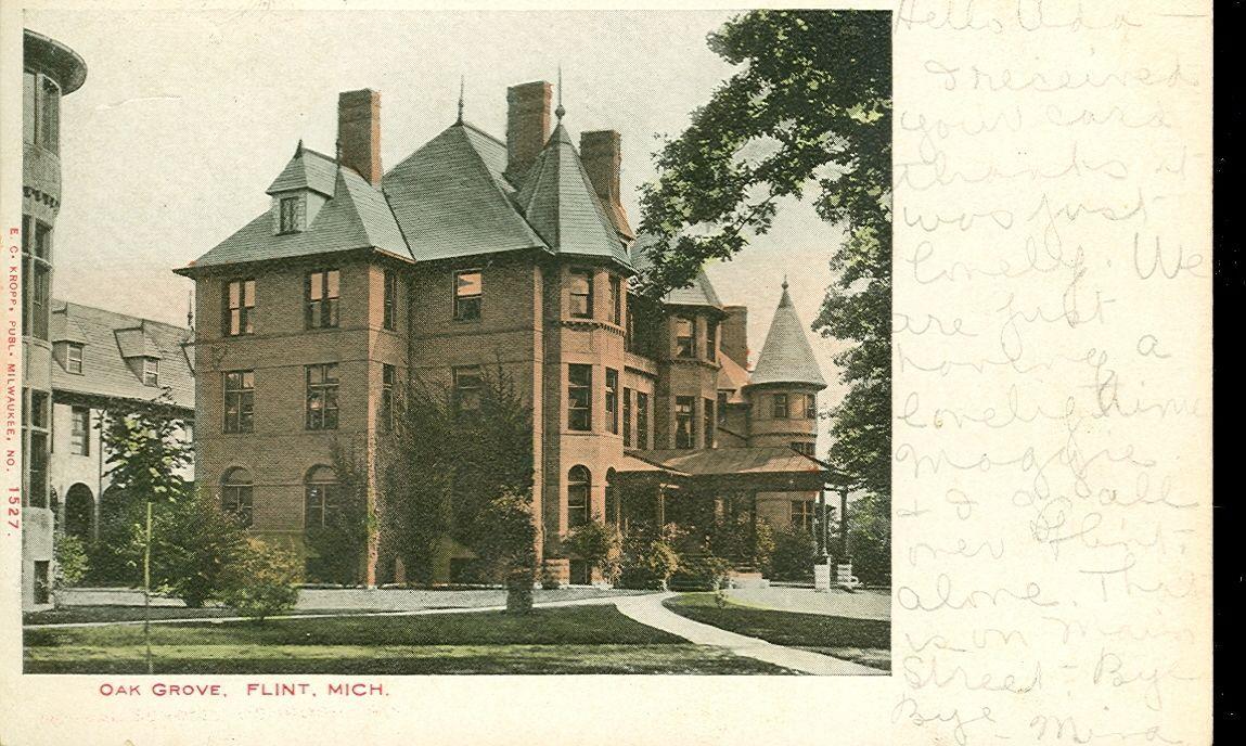 FLINT,MICHIGAN-OAK GROVE-#1527-PM1906-(MICH-F) | eBay | Flint Parks ...