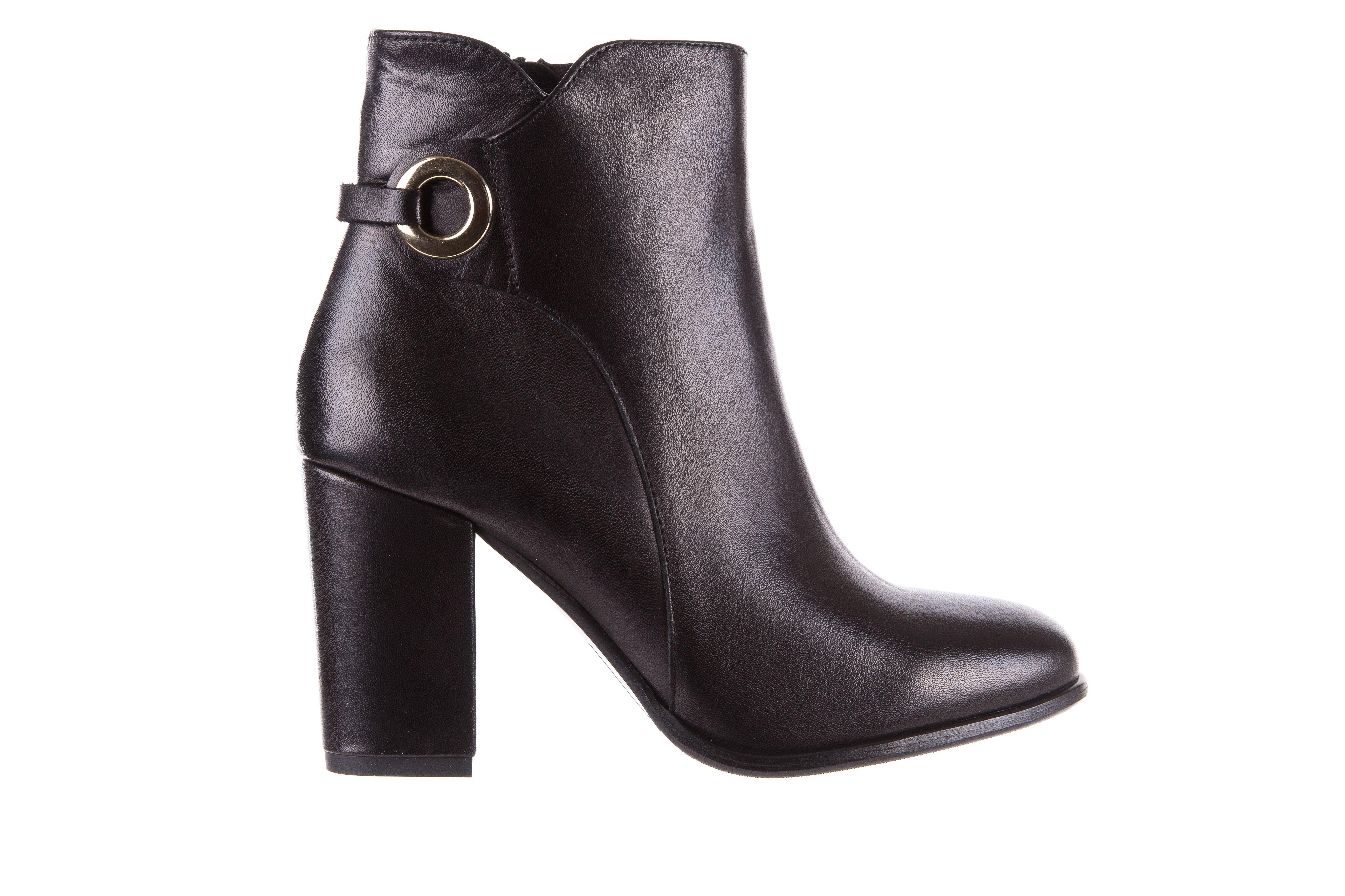 Bayla 170 2136 Czarne Botki Czarne Botki Na Obcasie Wykonane Ze Skory Naturalnej Zapinane Na Zamek Delikatnie Ocieplone Stabilny Ob Boots Ankle Boot Shoes