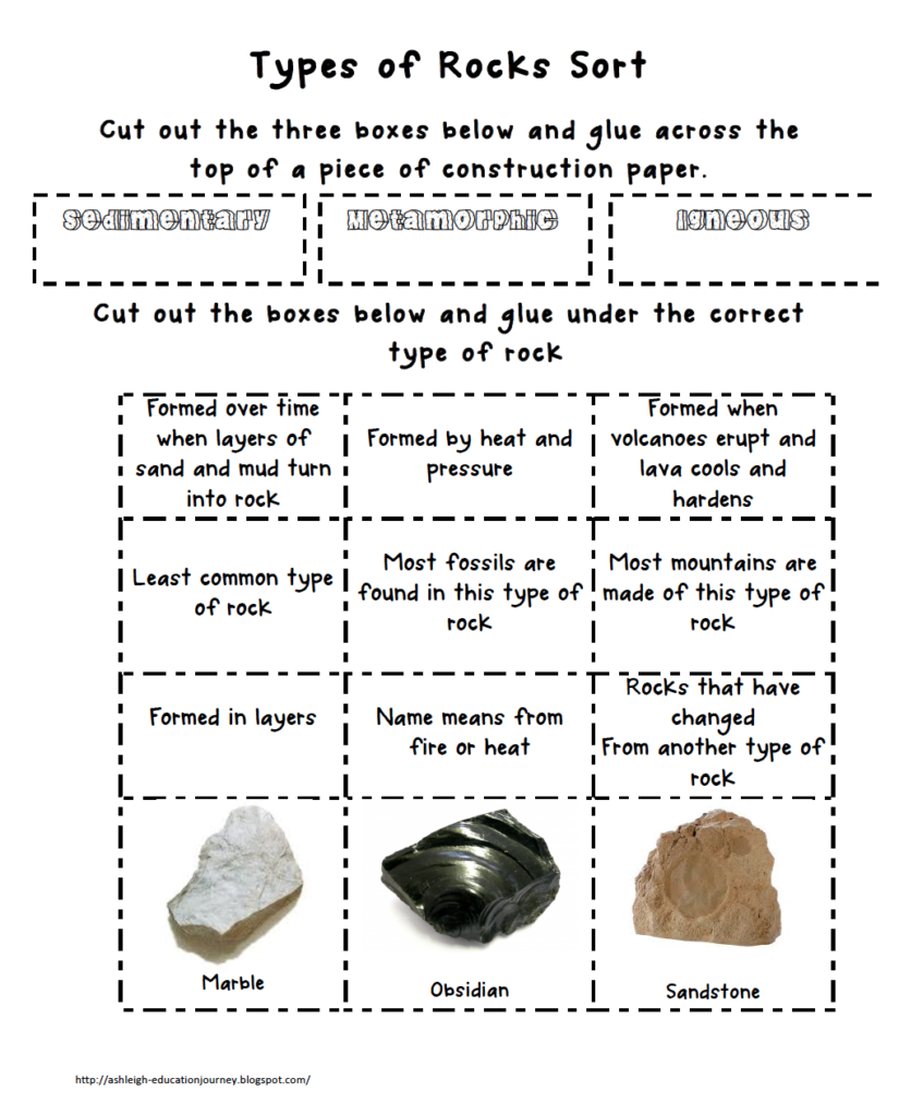 worksheet Rock Types Worksheet earth science ashleighs education journey teaching types of rock sort