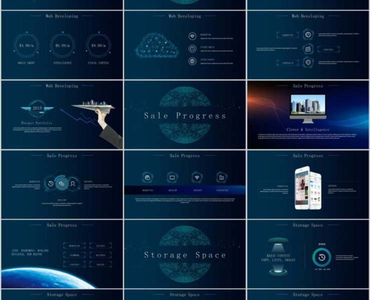 tech the highest quality powerpoint templates and keynote