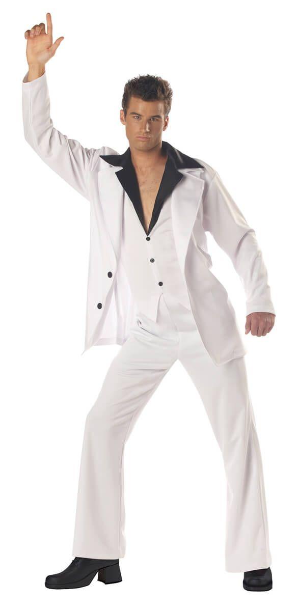 f3f3a58766 Disfraz traje blanco de los 80 para hombre en 2019