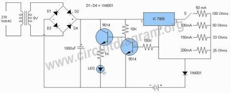 automatic nimh battery charger circuit circuit diagram rh pinterest com