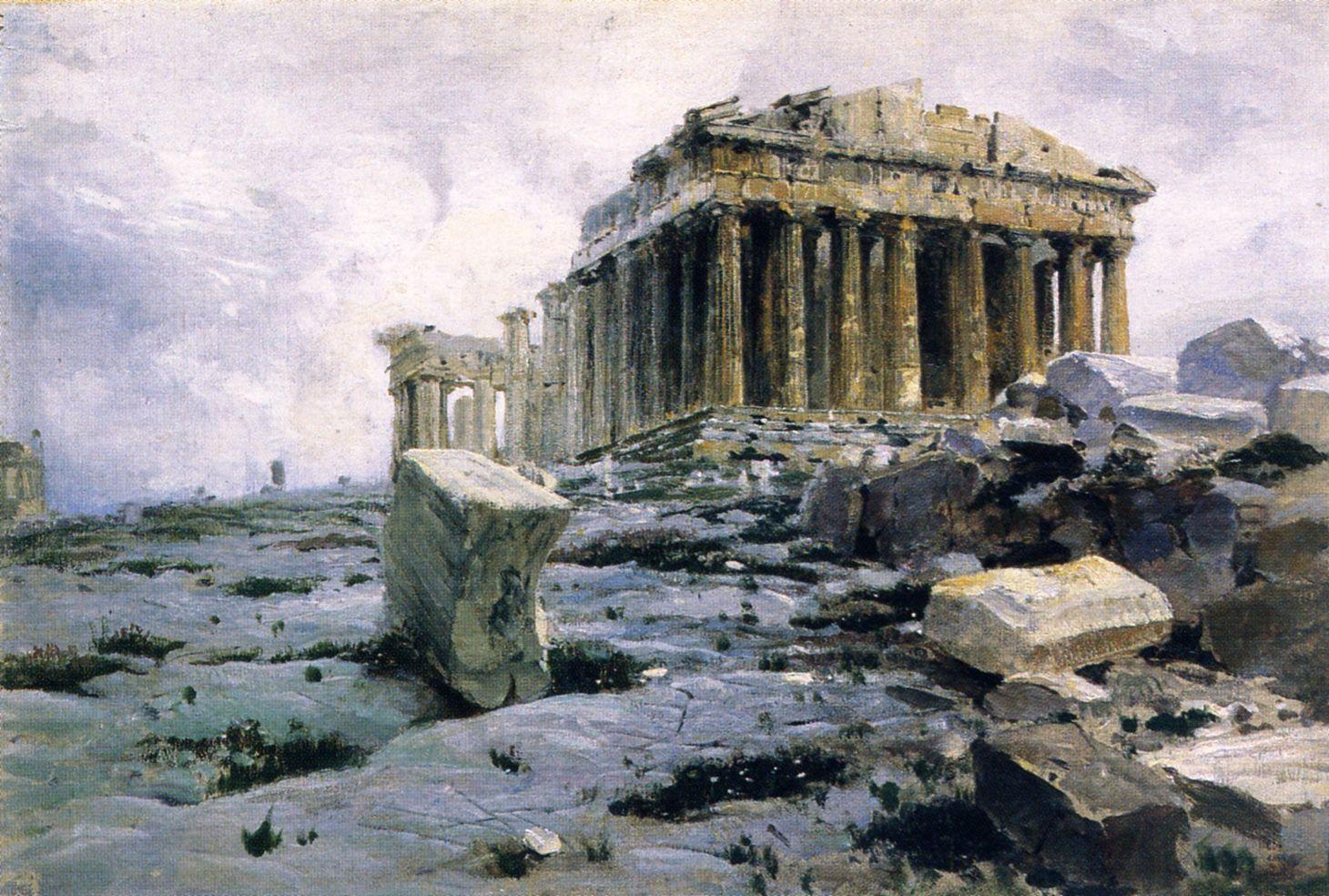 The Parthenon. Temple of Athena-Parthenos Vasily Polenov ...