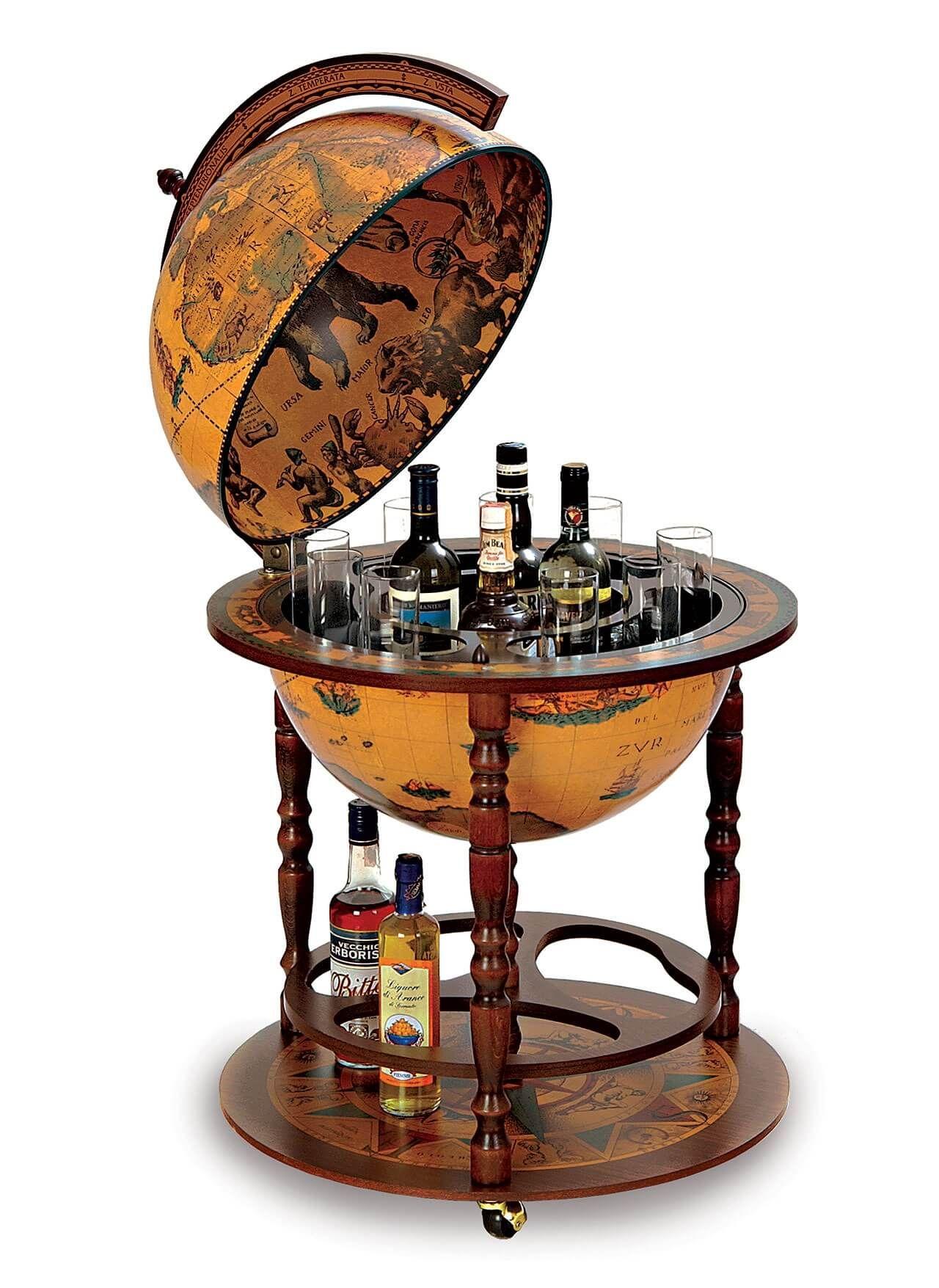 Morientez Globe Bar With Antique Globe Ball Globe Liquor Cabinet Globe Drinks Cabinet Alcohol Cabinet