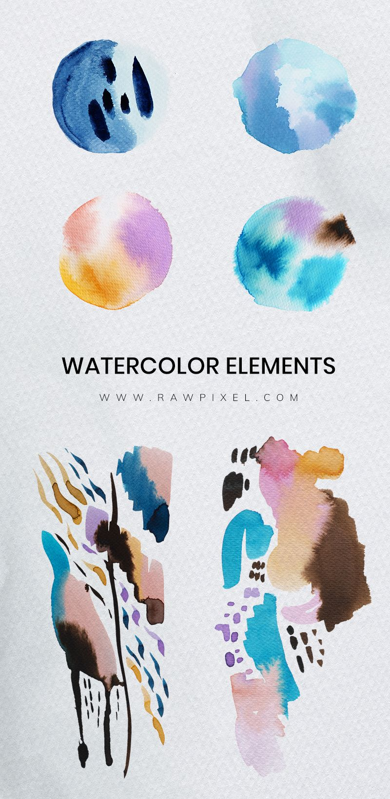 Find Beautiful Free And Premium Royalty Free Watercolor Elements