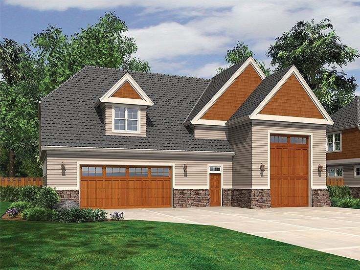 RV Garage Plan With Loft, 034G-0015