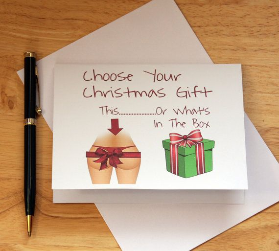 naughty dirty christmas card for the man in your life 425 x 550