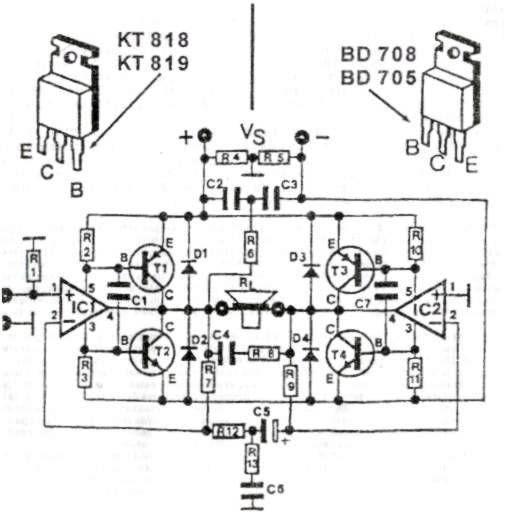 200w amplifier schematic