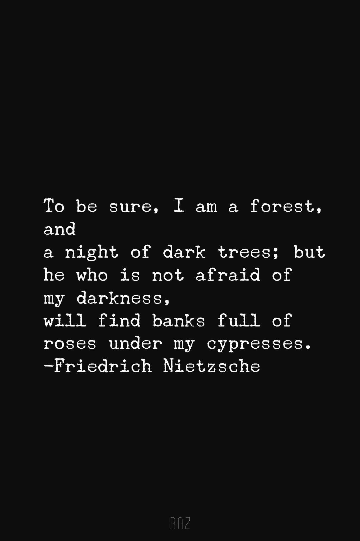 Be Not Afraid For I Am Also Light Nietzsche Quotes Cool Words Words Quotes