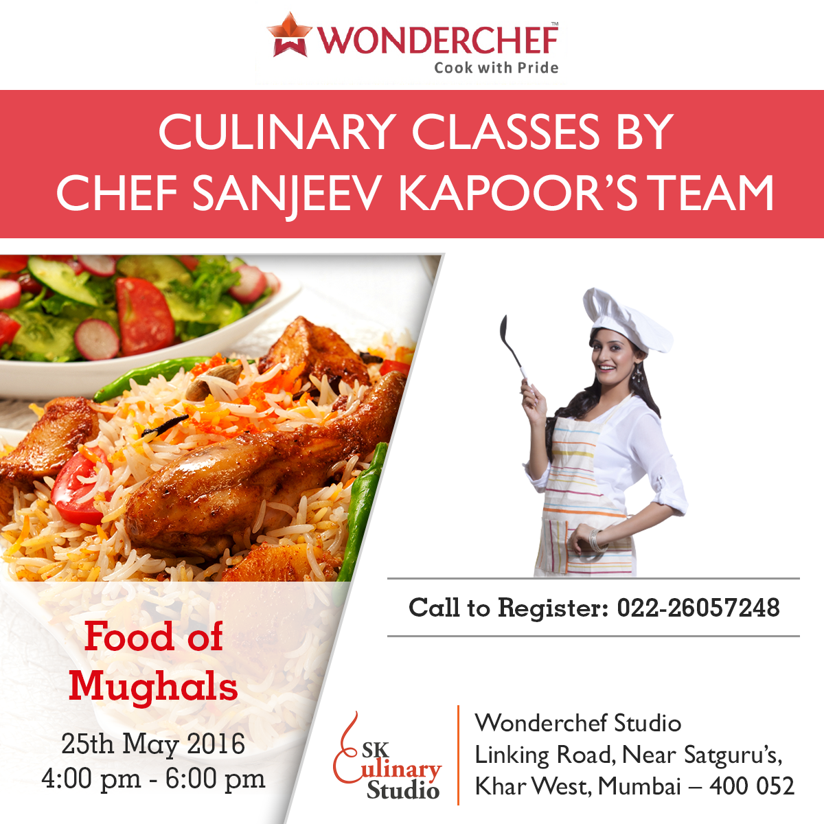 Want to taste the food that only the royals enjoyed? Sanjeev Kapoor's team tell you how to create them. Register Today!