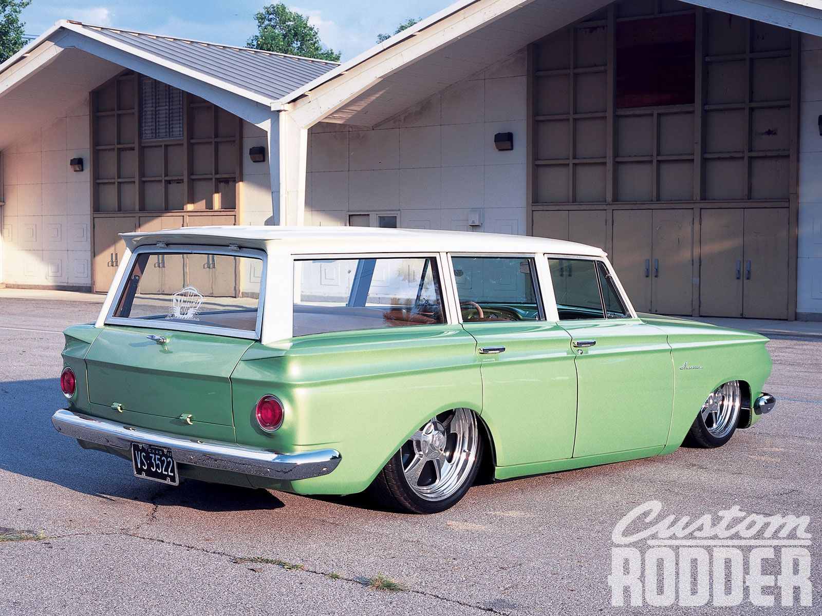 Learn about this modded 1962 nash rambler wagon in a distinctive hue of green from custom rodder magazine