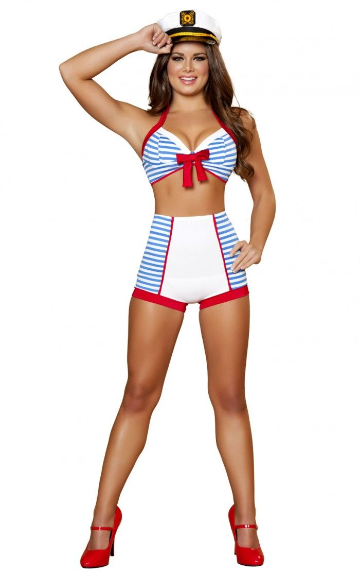 Roxanni 4395 3pc Playful Pinup Sailor by Roma Halloween Costumes - female halloween costume ideas