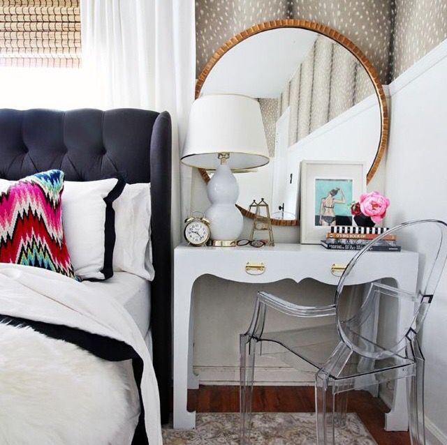 Why not have a vanity table as a bedside table