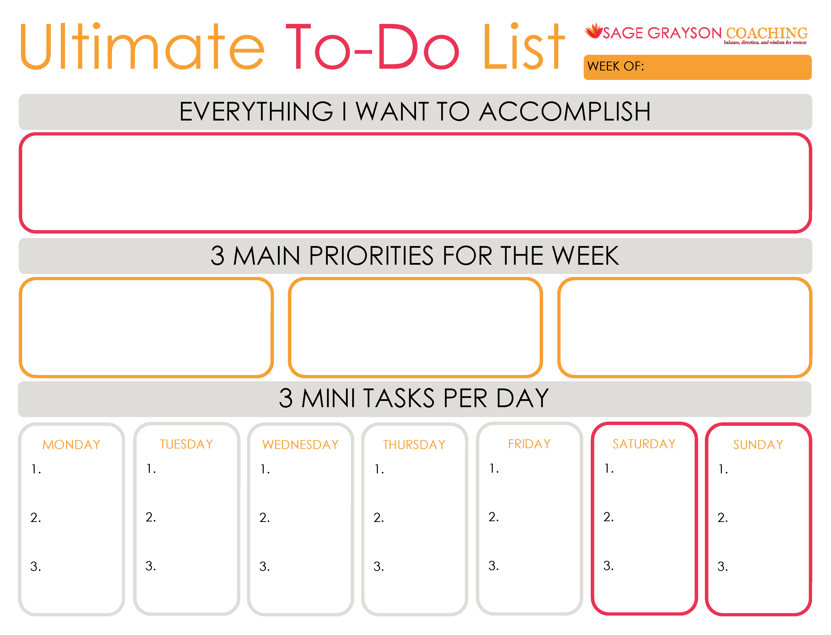 Freebie Week Ultimate To Do List And Reason 2