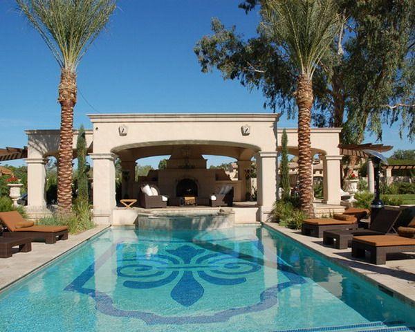 modern pool design by gazebo pool decoration patio design ideas