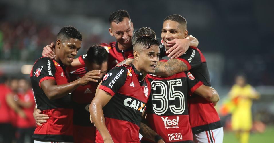Éverton e Cuellar marcam na vitória do Fla sobre o Santos; veja os gols