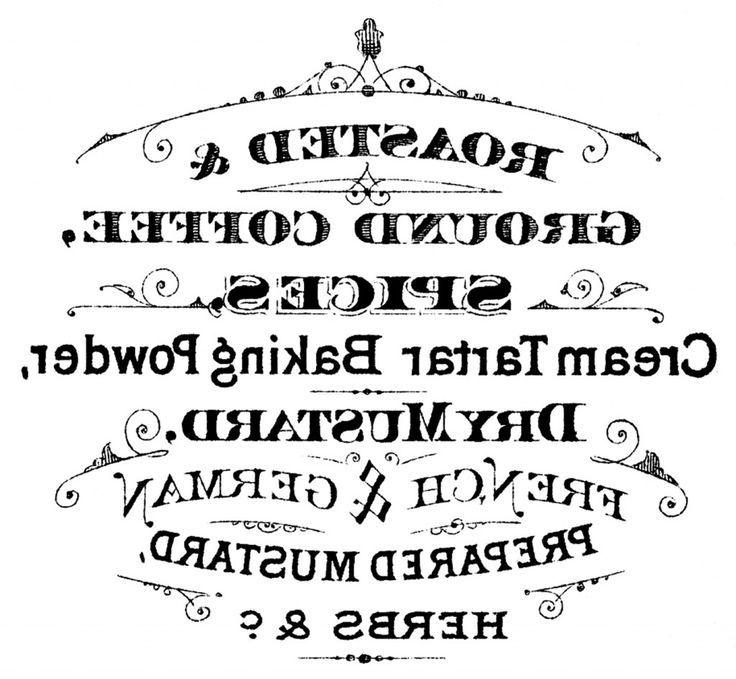 Printable typography coffee sign laminas decoupage y espejo for Invertir imagen espejo