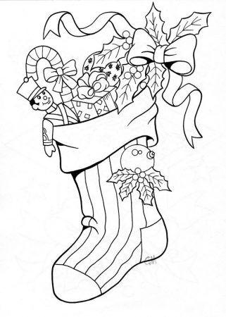 ausmalbilder weihnachtssocken | weihnachtsmalvorlagen, ausmalbilder, weihnachten zeichnung