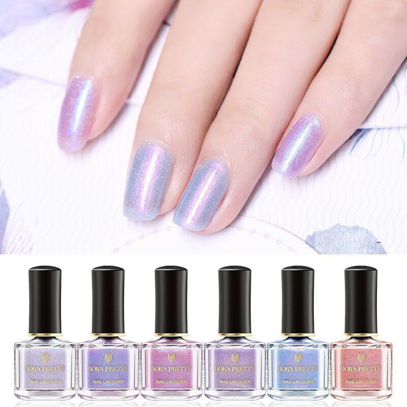 BORN PRETTY 6ml Nail Polish Nude Color Pink Translucent