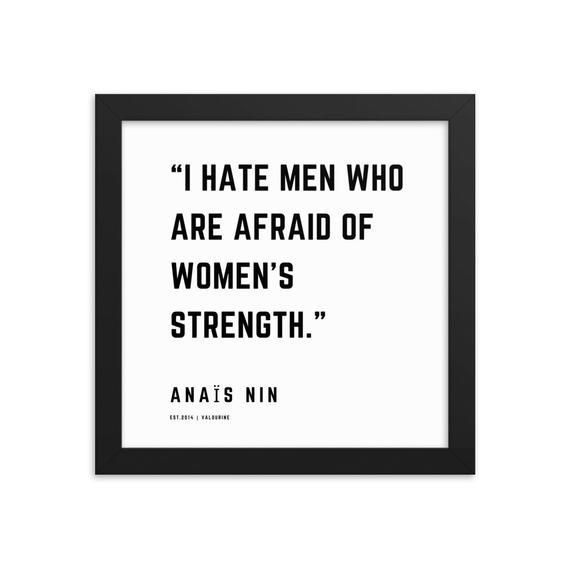 64 | Anais Nin Quotes | Framed Print Poster | 210126 |Literature Literary  Inspirational Motivation Motivating Female Writer Writing Author