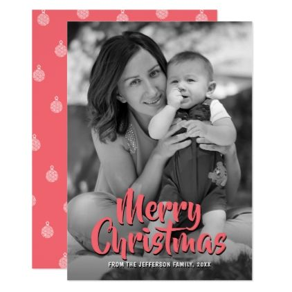 Merry christmas 2017 baby photo family holiday card merry happy new year 2018 family photo holiday greeting card holiday card diy personalize design template cyo cards idea m4hsunfo