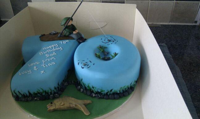 Spongebob Cake With Images Fish Cake Birthday 70th Birthday