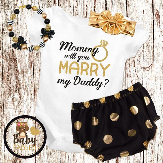 Mommy Will You Marry My Daddy Bodysuit Gold And By