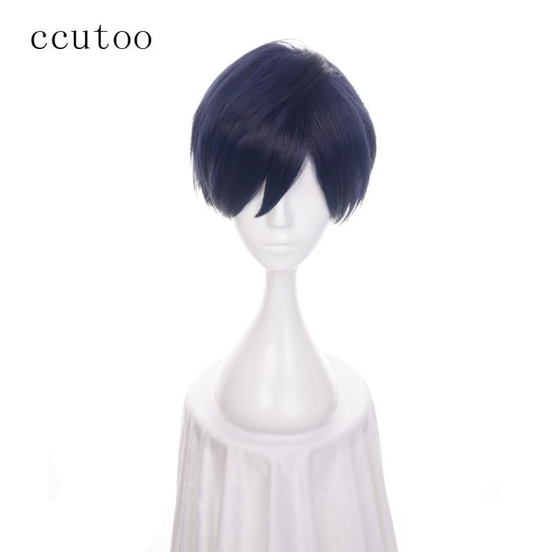 Ccutoo Womens Synthetic Hair Straight Grey Long Harajuku Cosplay Costume Wig Synthetic Wigs