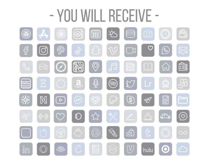 Blue App Icons, Aesthetic App Icons, Windy App Ele