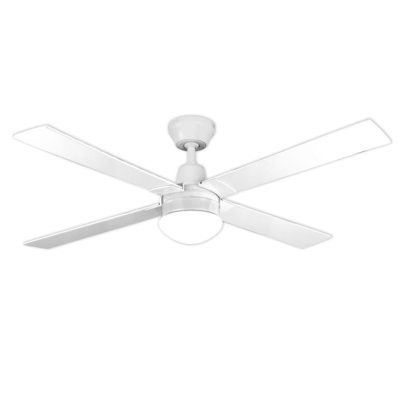 Arlec 120cm 4 blade white ceiling fan with oyster light and lcd arlec 120cm 4 blade white ceiling fan with oyster light and lcd remote control sciox Choice Image