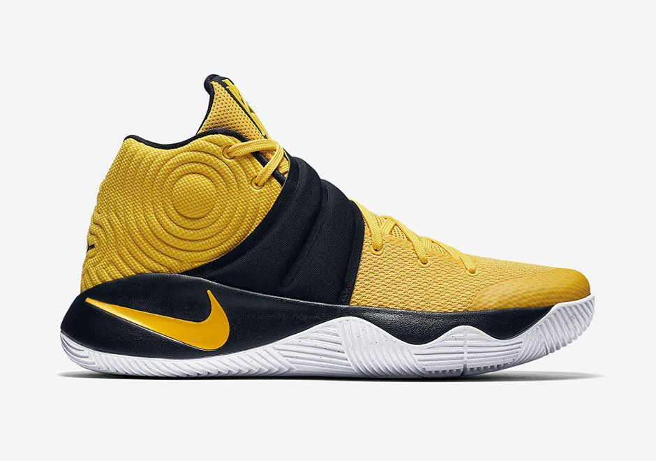 Nike Kyrie 2 Mens Basketball Shoes 13 Tour Yellow Black White 819583 701 Nike Basketballshoes Nike Kyrie Nike Hot Sneakers
