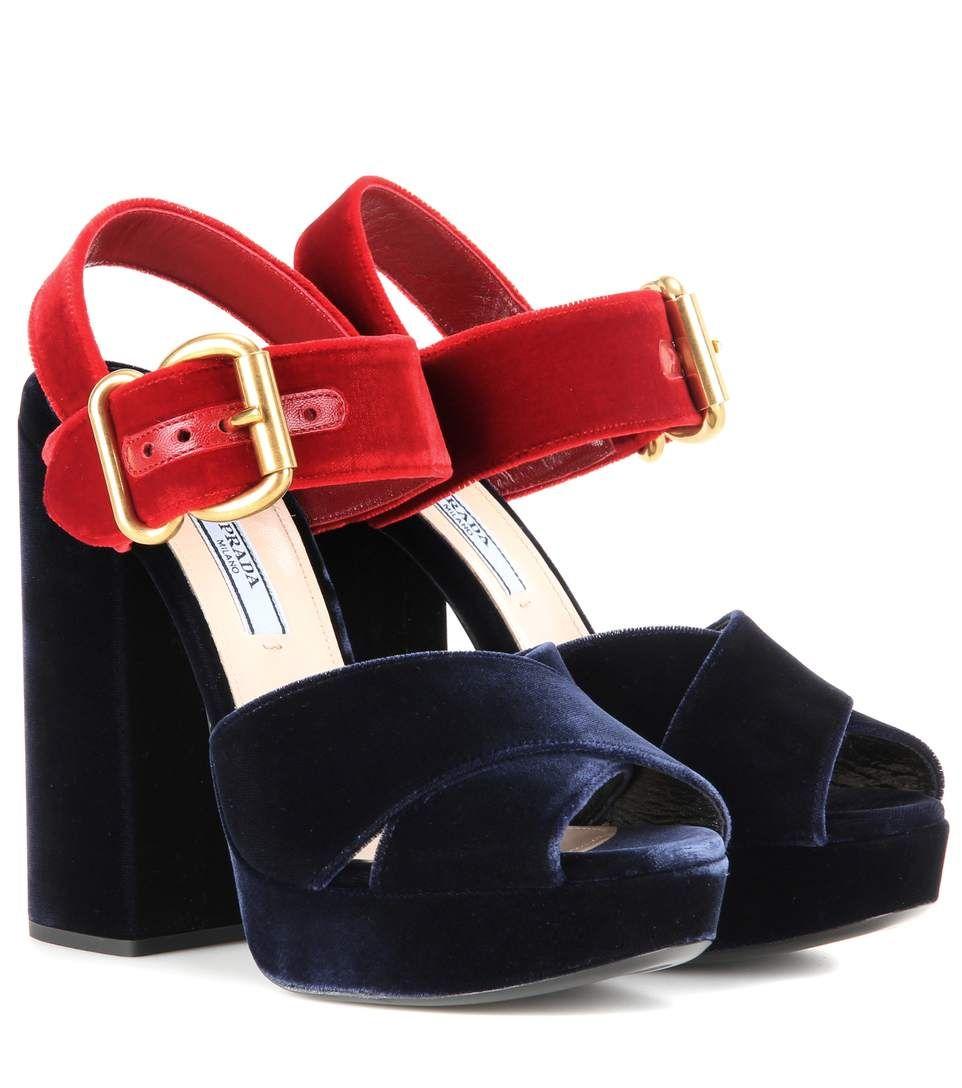 593cfe13e76 mytheresa.com - Velvet platform sandals - Luxury Fashion for Women   Designer  clothing