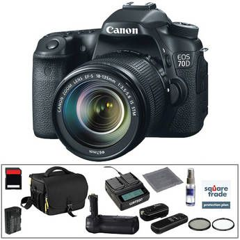 Canon EOS 70D DSLR Camera with 18-135mm f/3 5-5 6 IS STM Lens Deluxe