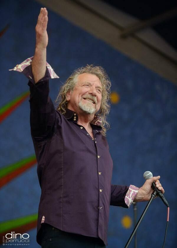 Robert Plant at New Orleans Jazz Fest April, 2014.