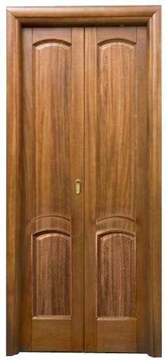 Porta in legno massello toulipier struttura a libro due for Porta a libro noce