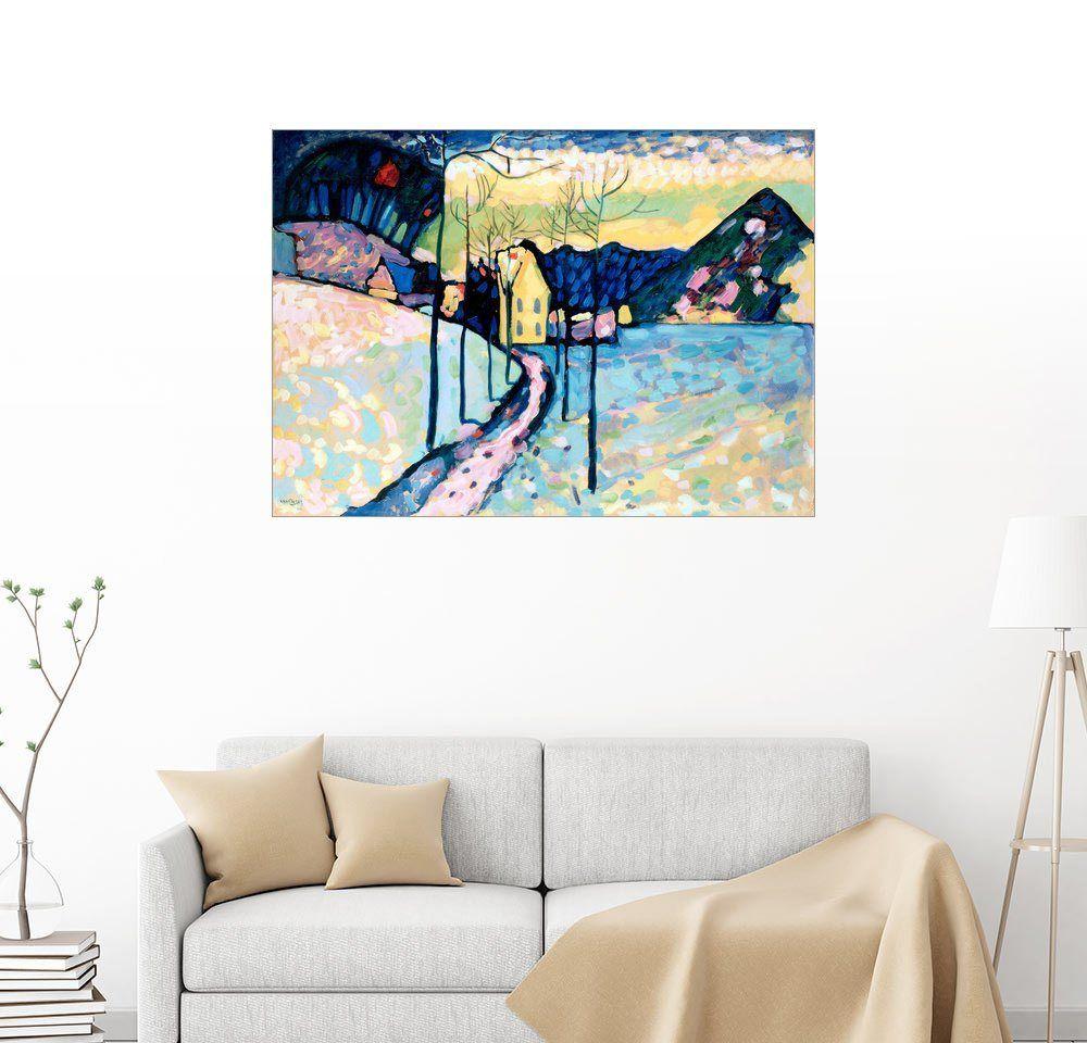 Wandbild - Wassily Kandinsky »Winterlandschaft«