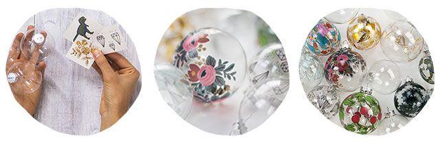 EllyBeth: Mini-post | Des boules de Noël tatouées