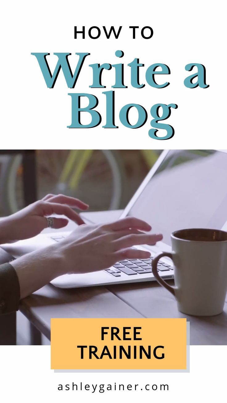 Sign-up and learn how to write a blog