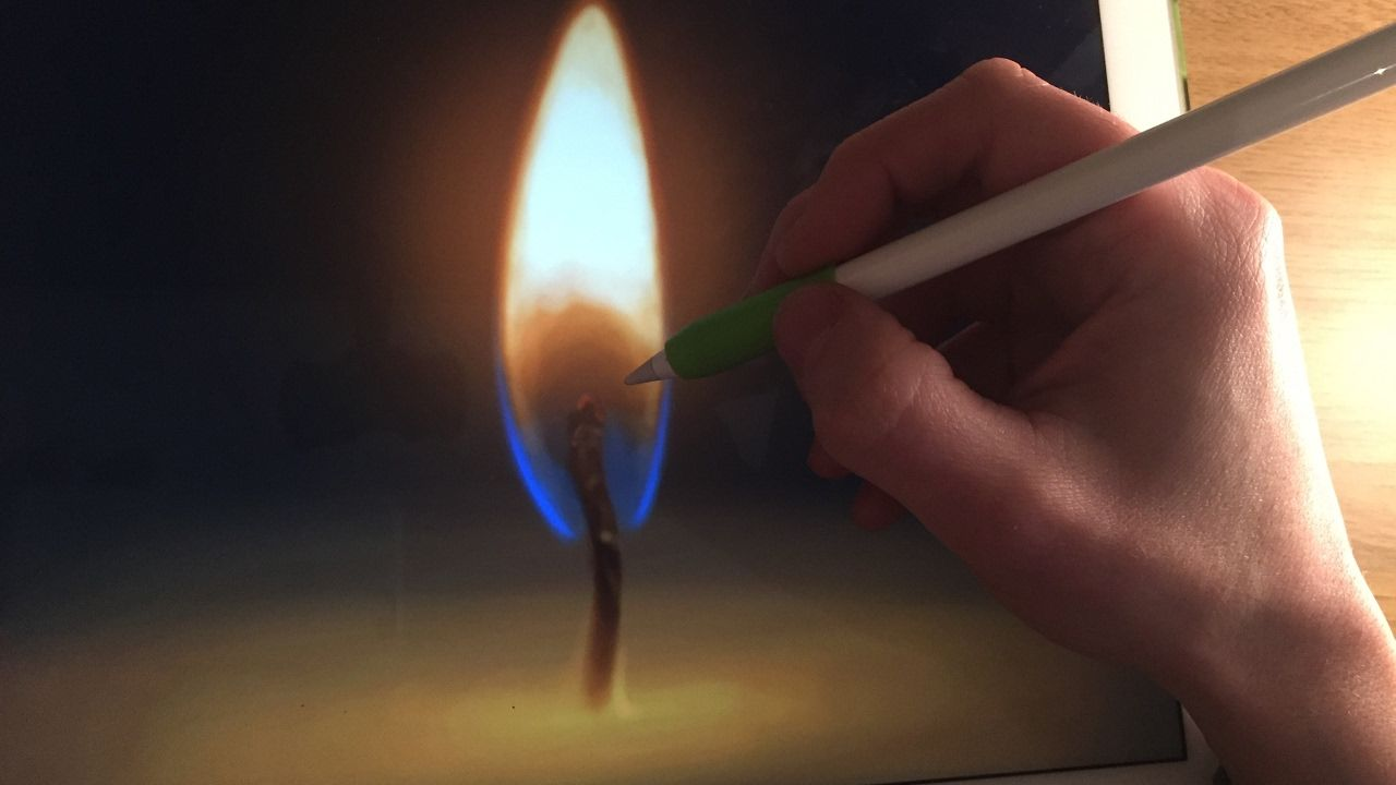 Apple Pencil Drawing Tutorial: HOW TO PAINT FIRE, PART 1 - CANDLE ...