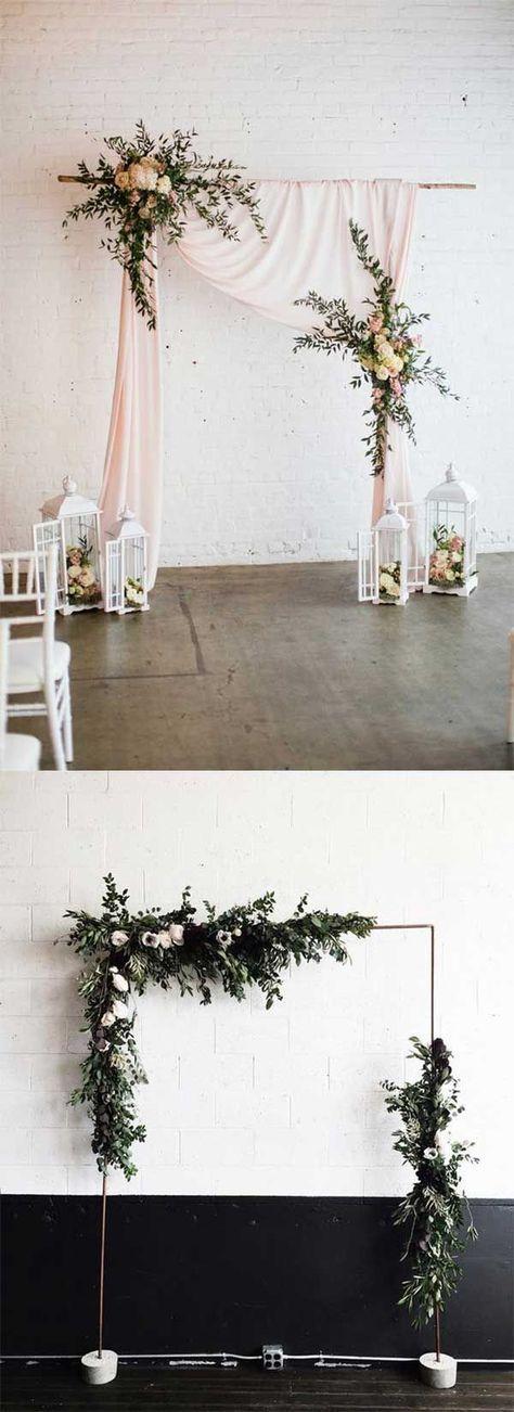100 BEST FLORAL RUSTIC WEDDING ALTARS & ARCHES DECORATING IDEAS FOR 2018 SPRING WEDDING - Wedding Invites Paper #weddingonabudget