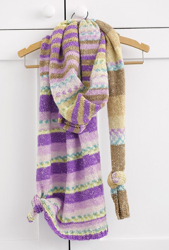 Summer knitted scarf by Patons Australia | new from acs | Pinterest