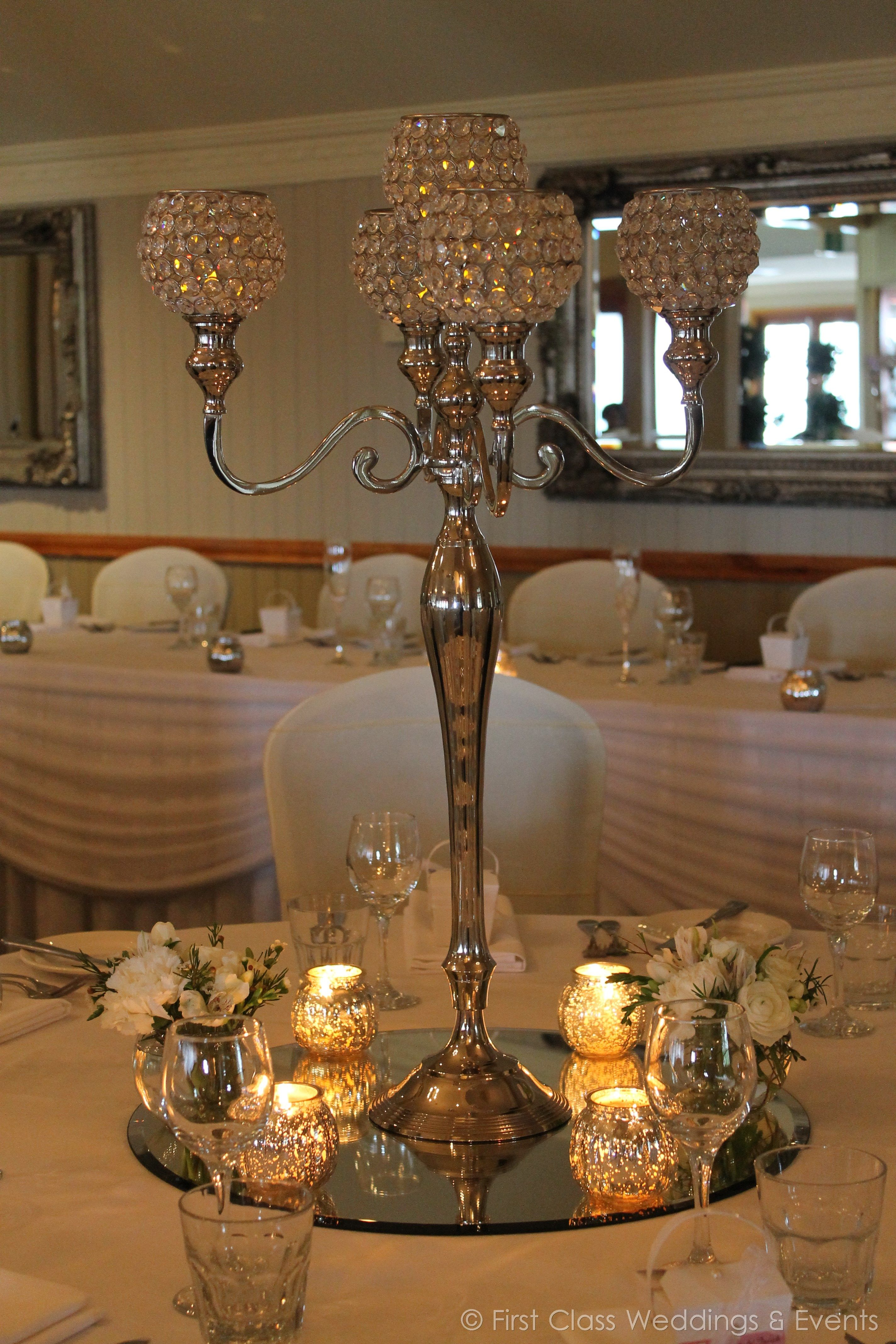 Crystal Candelabra. - Class Weddings & Events