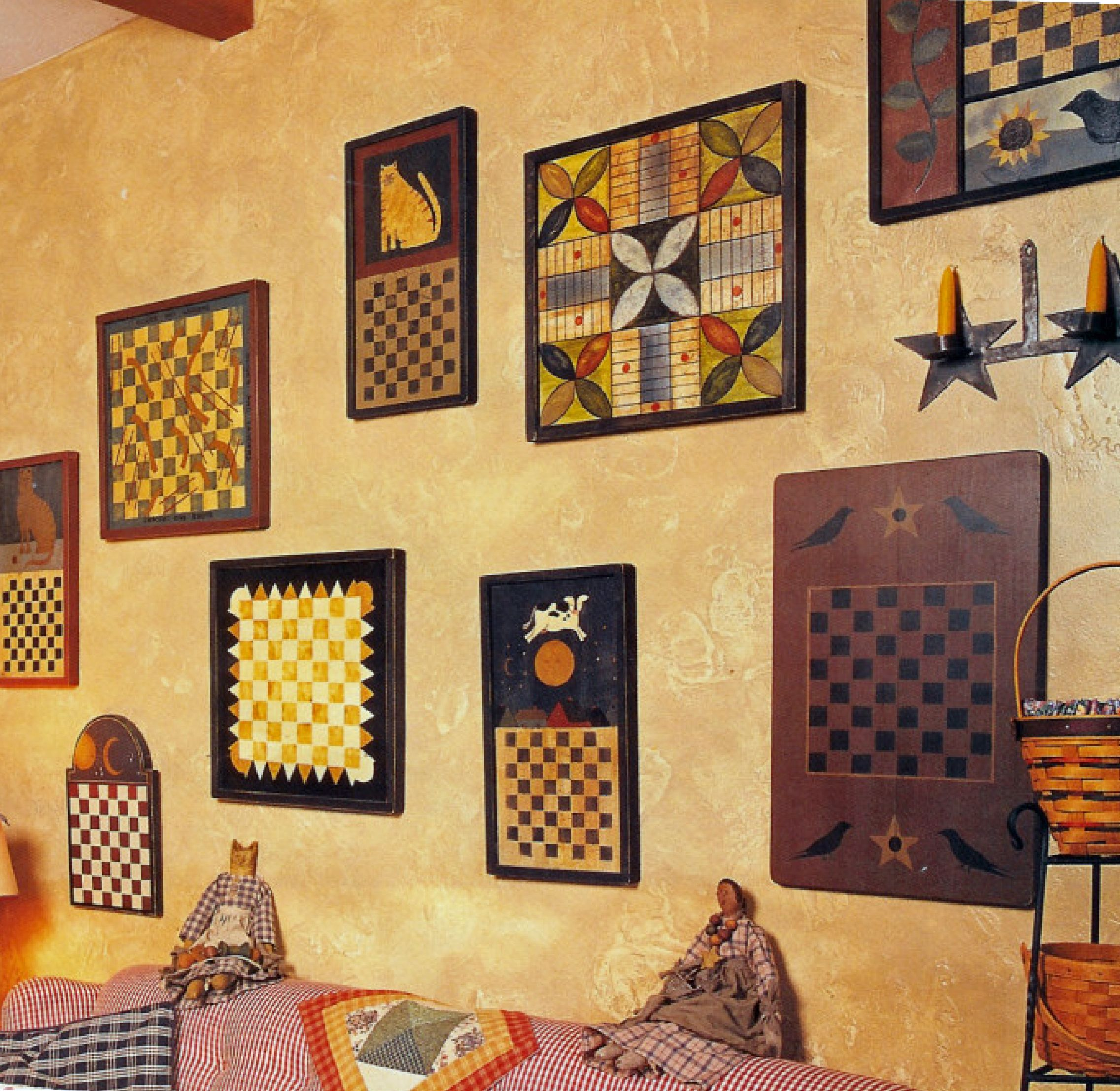Gameboards - so colorful and love the folk art graphics on the ...