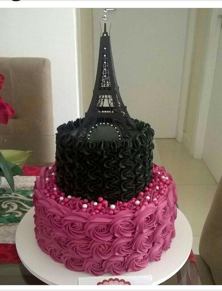 Pin De Zenaida Santiago Em Cookies Paris Bolo De Aniversario