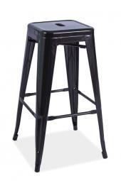S-4 barová stolička, čierna