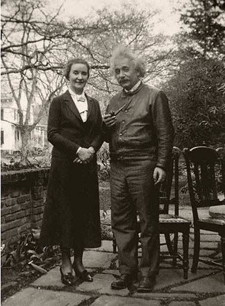 Albert Einstein with his lover, Russian spy, Margarita