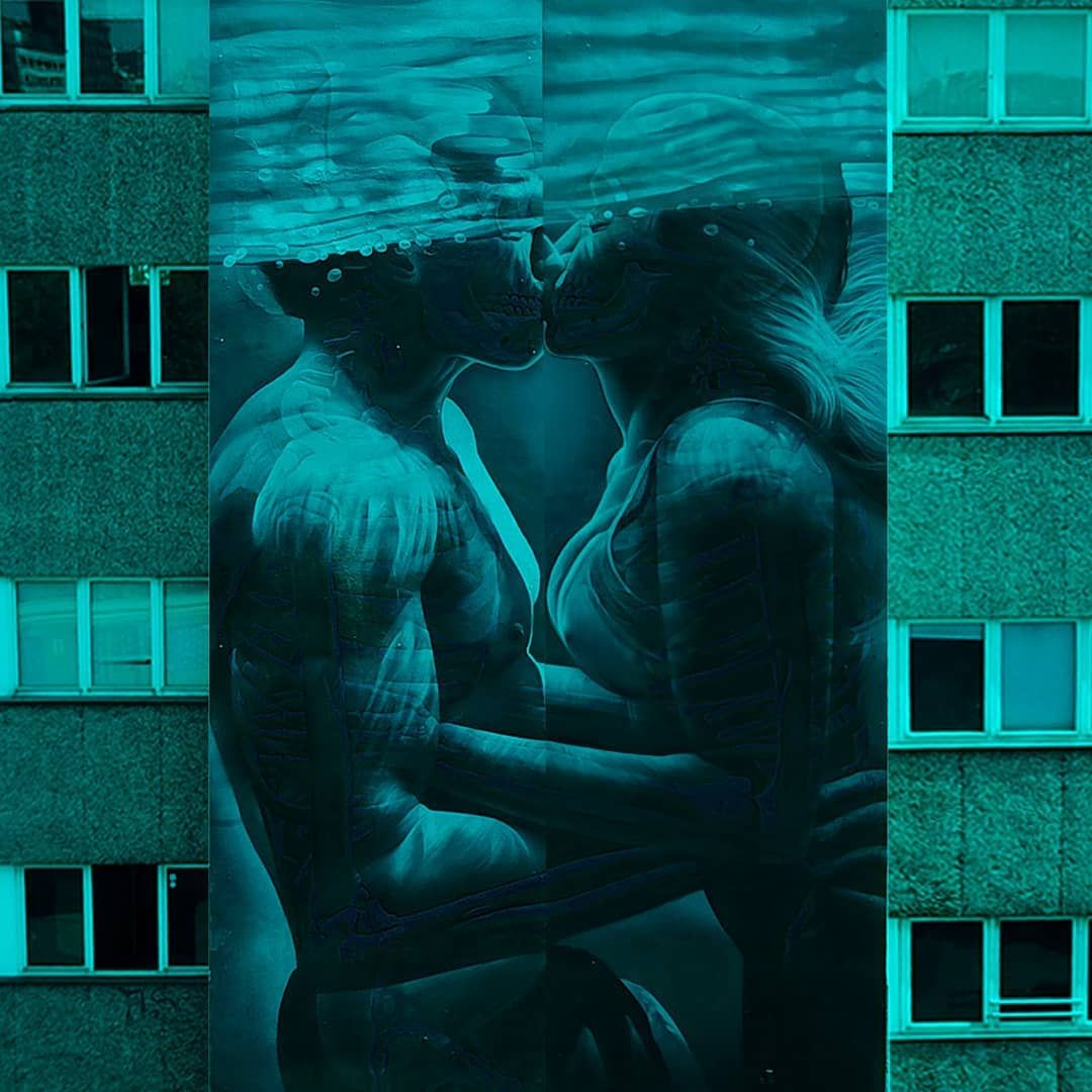 Swipe Left Love And Distance Underwater Kiss Inspired By The Movie The Shape Of Water The Piece Was Underwater Kiss The Shape Of Water Art